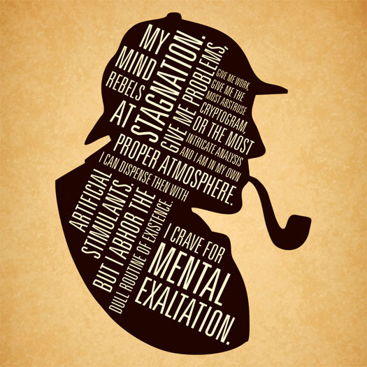 Sherlock Holmes Quotes 'my name is sherlock holmes.